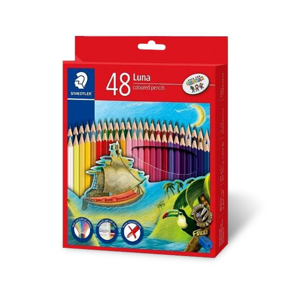 스테들러 루나 색연필 48색 세트 미술 준비물 학용품