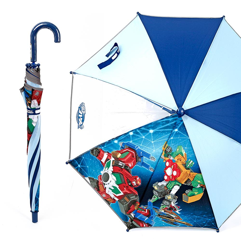 헬로카봇7 갤럭시47 한폭POE-블루 우산 유아우산 아기우산 아동우산 어린이우산 초등학생우산 캐릭터우산 캐릭터장우산 자동우산 3단자동우산