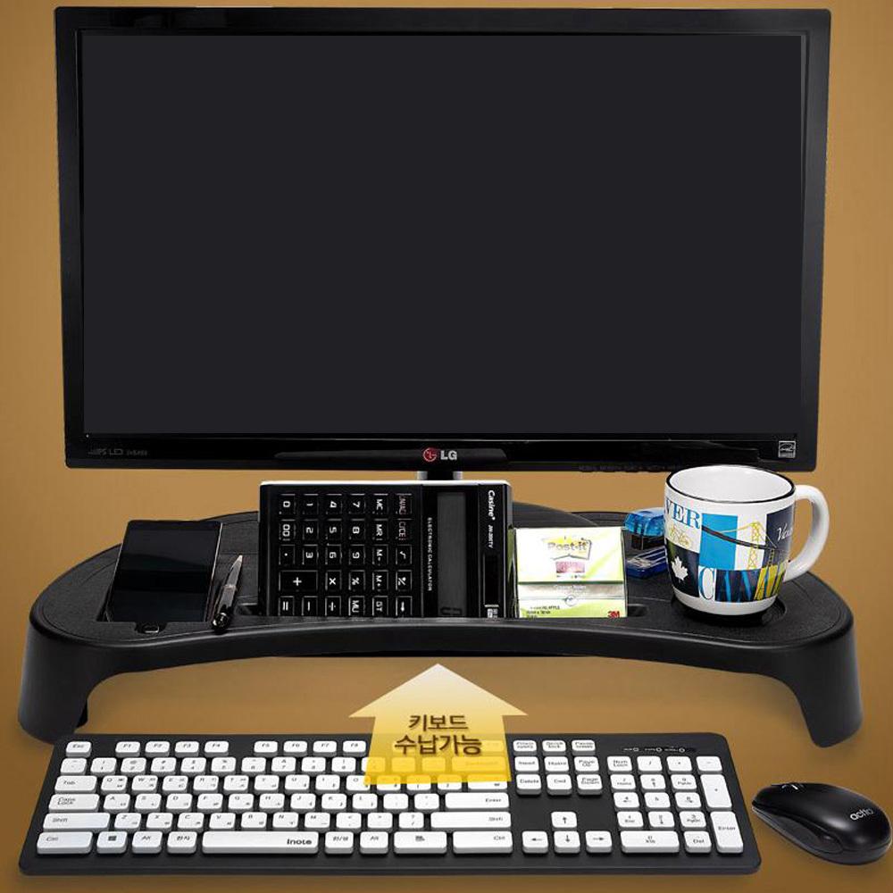 키보드 멀티탭수납 모니터받침대 컴퓨터받침대 PC받침대 컴퓨터선반 컴퓨터본체받침대 바퀴달린받침대 컴퓨터본체거치