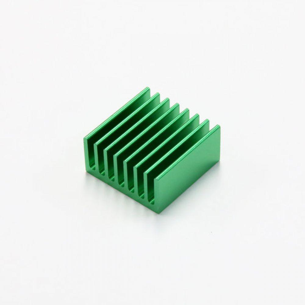 소형 알루미늄 히트싱크 칼라 방열판 20x20x10mm 녹색 5개 히트싱크 방열판 칼라방열판 다용도 칼라히트싱크 알루미늄방열판 히트싱크 쿨러