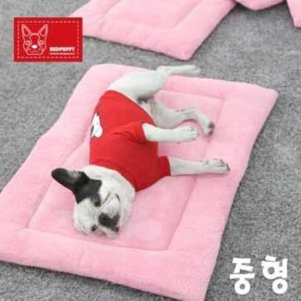 레드퍼피 펫 홈 포그니 방석 (핑크 중형)