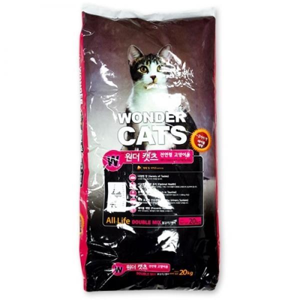 원더캣츠 전묘용 20kg 고양이사료 고양이간식 고양이놀이용품 고양이화장실 고양이모래