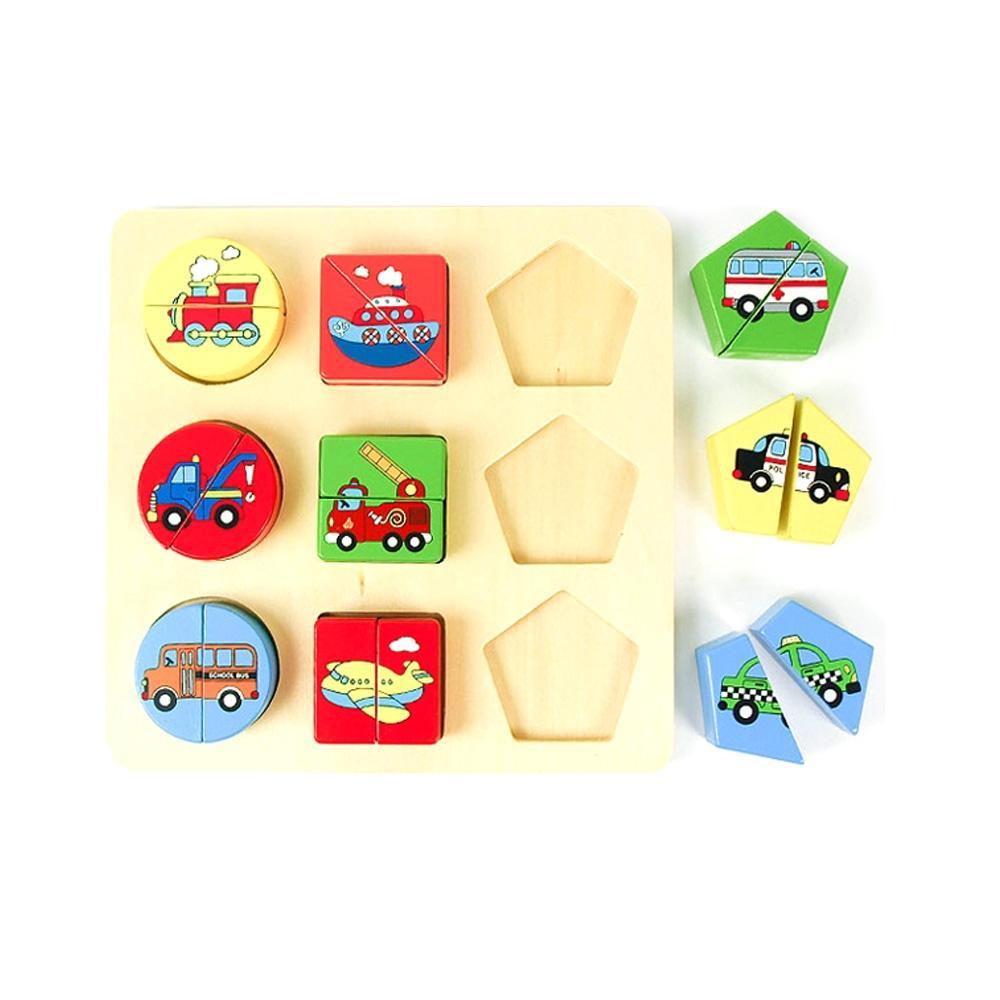 선물 유아 어린이 놀이 도형맞추기 교통 아이 장난감 퍼즐 블록 블럭 장난감 유아블럭