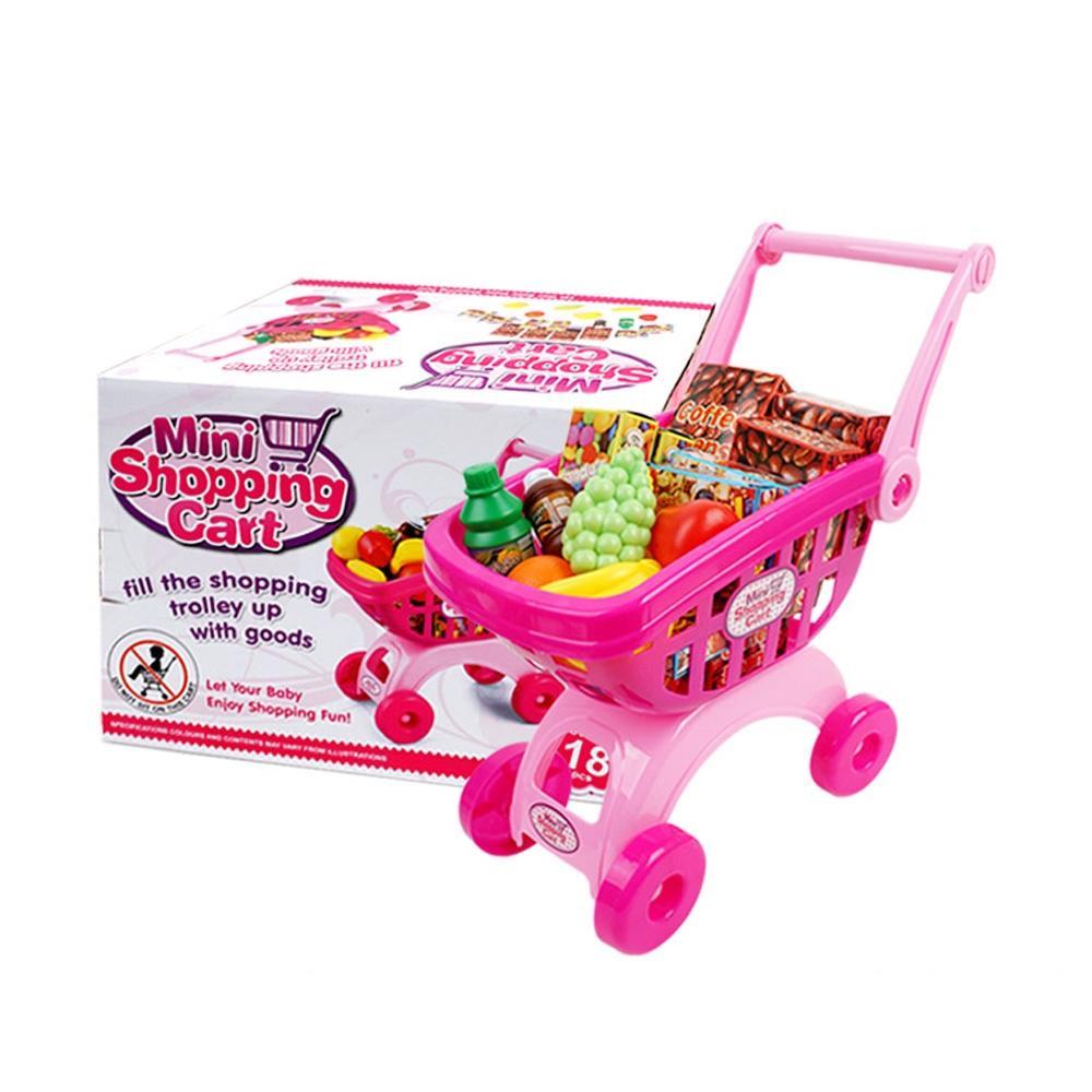 선물 유아 마트 미니 쇼핑 카트 놀이 세트 어린이날 완구 어린이집 유아원 초등학교 장난감