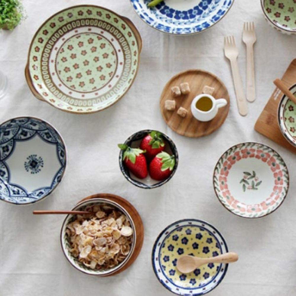 폴랜스 공기 블루 5P 그릇 밥그릇 주방용품 예쁜그릇 밥그릇 공기 그릇 주방용품 예쁜그릇