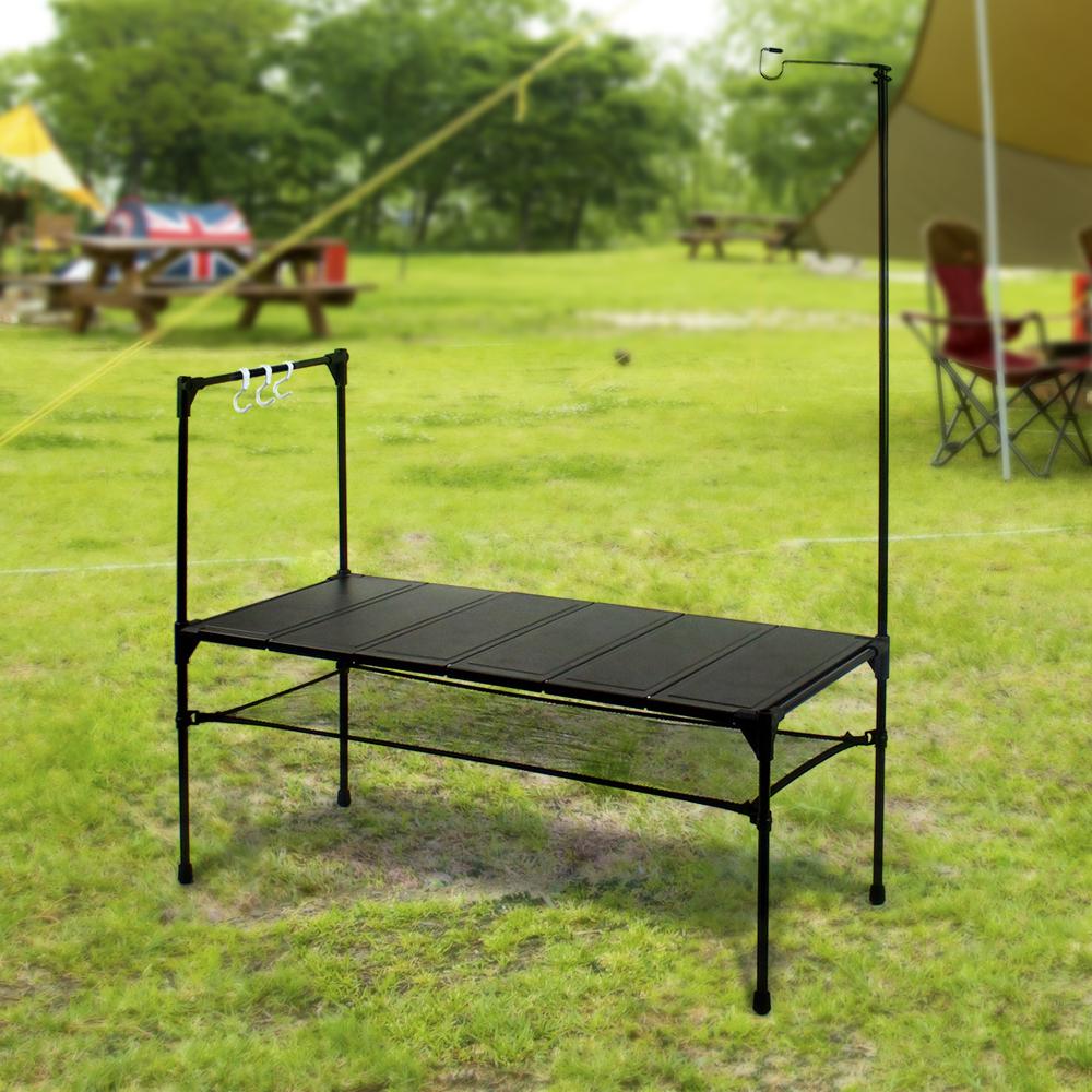 키친 캠핑테이블 80x111cm 간이테이블 휴대용테이블 캠핑테이블세트 미니테이블 야외테이블 야외용테이블 다용도야외테이블