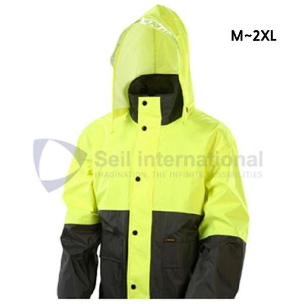 제비표 우의 Si-150 산업용 레인코트 M_2XL 개인보호구 보호복 우의 비옷 분리식우의 남성레이코트 남성비옷