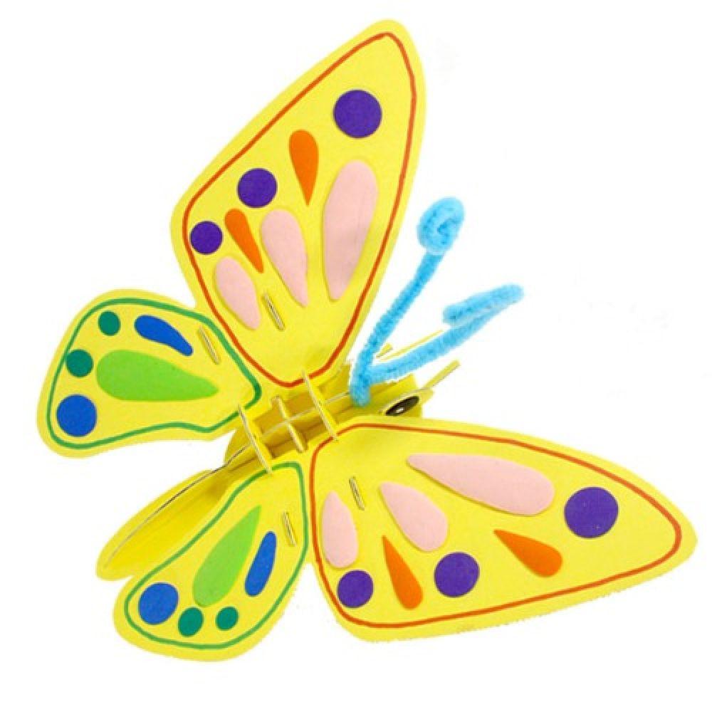 (만들기)나비 모빌 만들기 (10인 포장) 만들기재료 모빌DIY 나비모빌 모빌만들기 곤충만들기 봄만들기 나비만들기 모빌 종이공예미술만들기 곤충