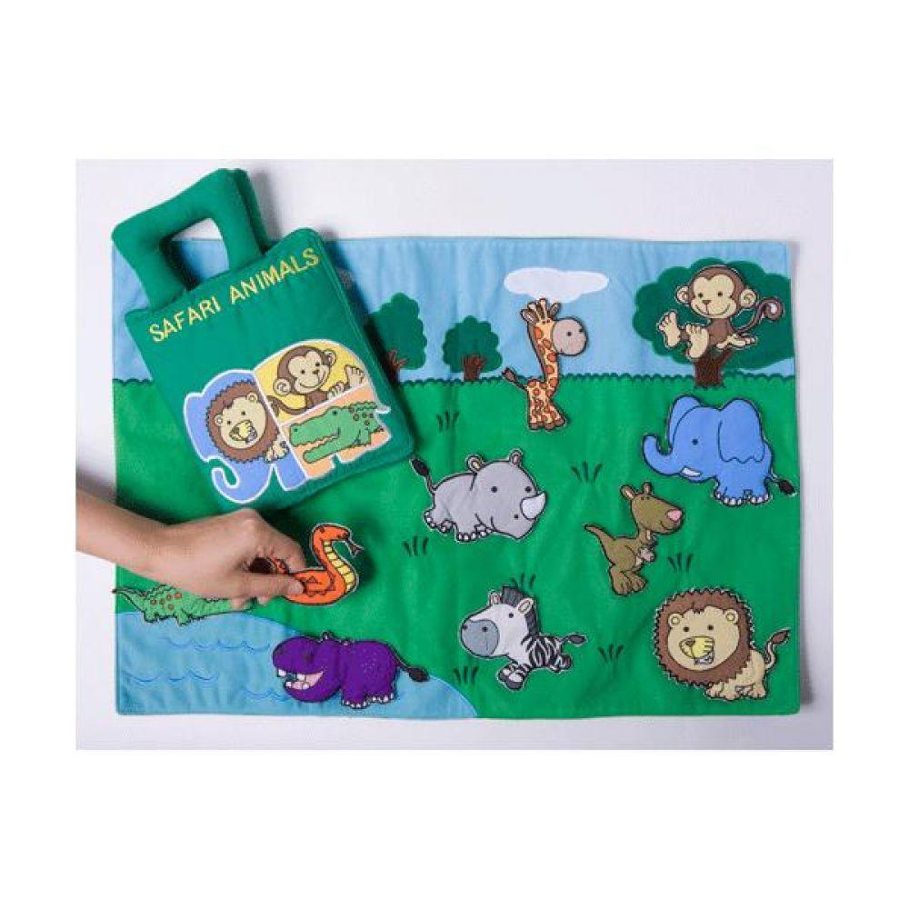 동물원 놀이 헝겊책 완구 문구 장난감 어린이 캐릭터 학습 교구 교보재 인형 선물