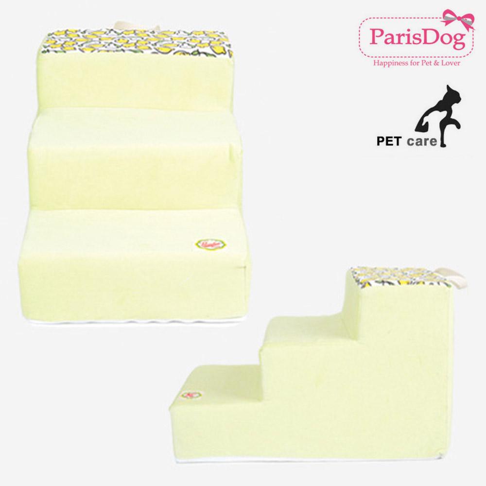 레몬 프린트 스텝 그린 39cm 강아지 애견용품 애견용품 침대계단 강아지 애완동물 스텝