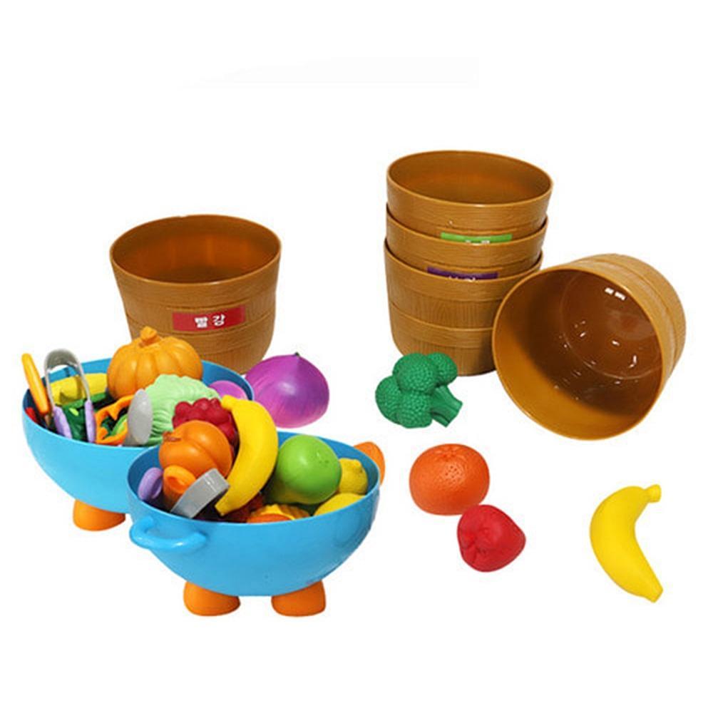 세트 아이 유아 놀이 완구 말랑 과일 야채 바구니 유아원 장난감 2살장난감 3살장난감 4살장난감