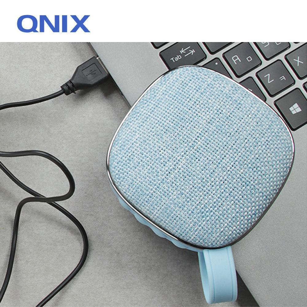 QNIX 고출력 블루투스 패브릭 스피커 (QS-2000) (블루) 스피커 블루투스스피커 노트북스피커 PC스피커 컴퓨터스피커