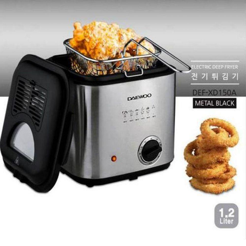 메탈 전기 튀김기 1.2리터 프라이어 가정용 튀김기 가정용튀김기 전기튀김기 업소용튀김기 미니튀김기 에어프라이어 오븐토스터기 전기그릴 미니오븐 전자렌지 믹서기 가스렌지 튀김냄비 튀김솥 튀김팬