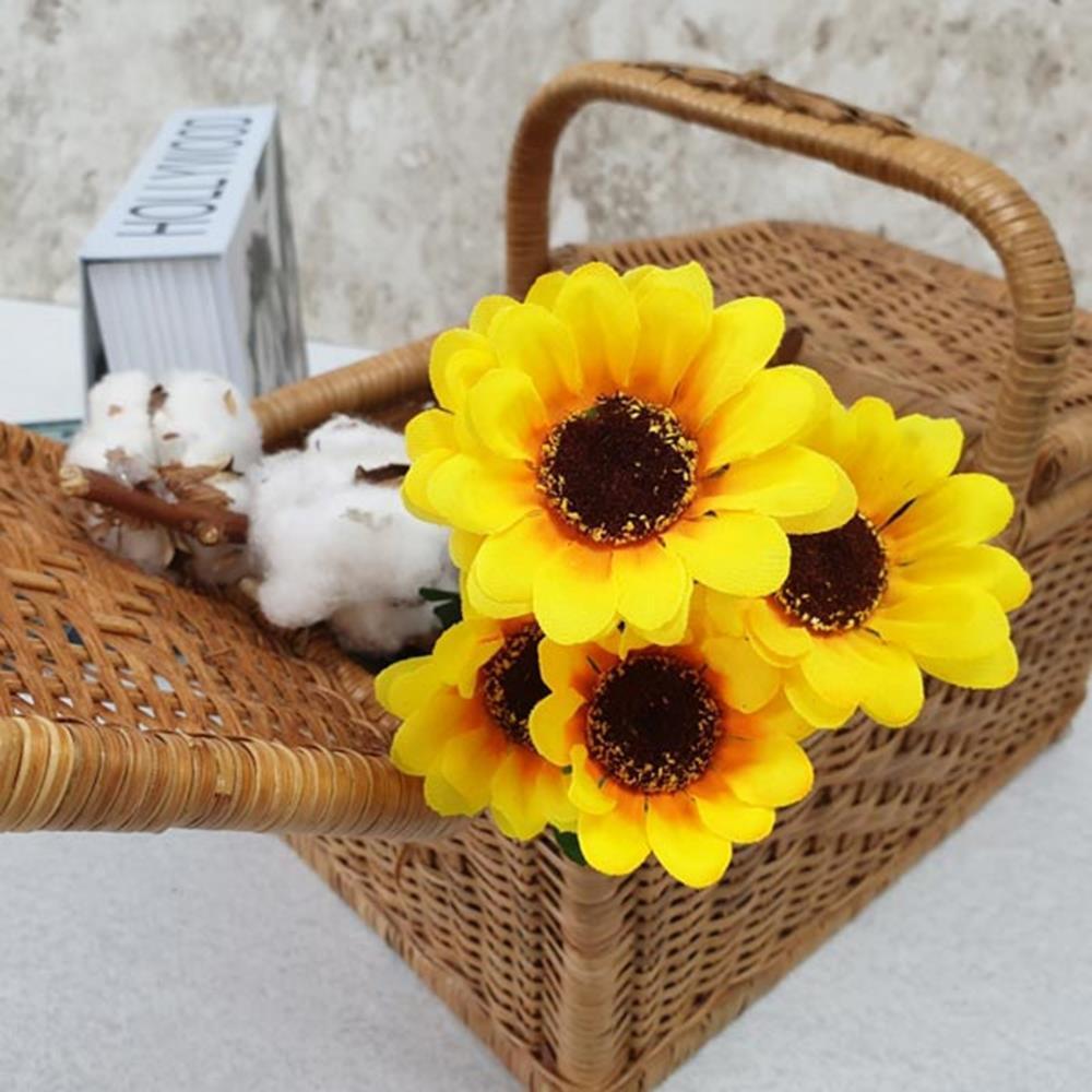 해바라기 조화부쉬 미니 조화장식 고급조화 꽃장식 조화꽃다발 인조꽃 조화장식 조화꽃 인테리어소품