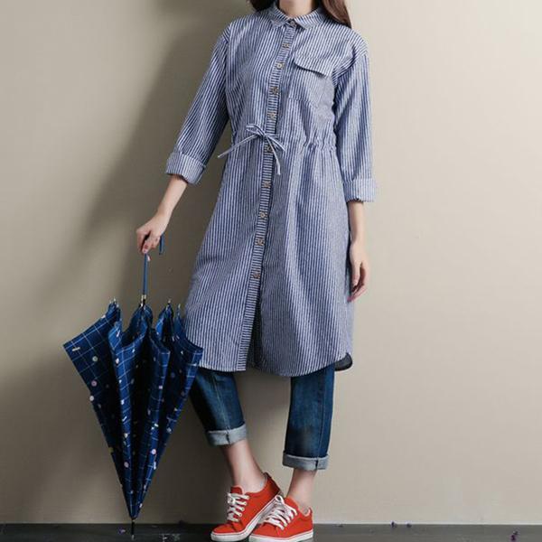 허리라인 스트링 면소재 블루색 롱 스트라이프 원피스 니트티 가디건 목폴라 루즈핏 반폴라 블라우스 남방 나시 여성베스트 셔츠