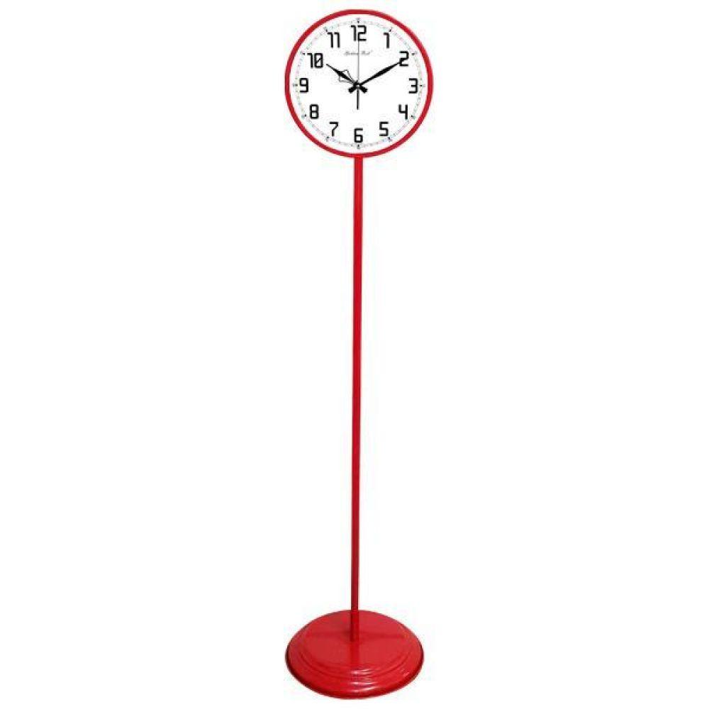 GB6163 무소음 대형 교육용 메탈 스탠드시계 레드 스탠드시계 인테리어시계 무소음시계 대형시계 빅사이즈시계 유아동시계 교육용시계 플로어시계 stand clock wallclock 장식시계 메탈시계 시계 홈데코 집들이선물 결혼 인테리어소품