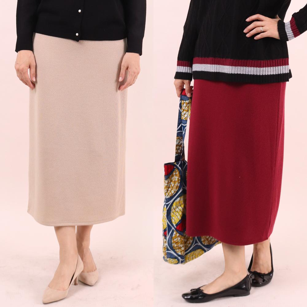 미시옷 6713L910 데이 니트 롱 스커트 WW 빅사이즈 여성의류 빅사이즈 여성의류 미시옷 임부복 데일리H롱니트스커트