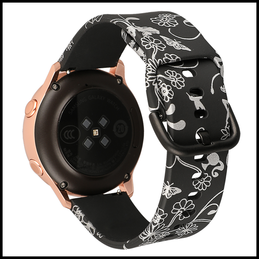 갤럭시워치액티브 패턴 실리콘밴드 시계줄 스트랩20mm밴드폭 갤럭시워치액티브 시계줄 갤럭시워치시계줄 실리콘밴드 스트랩