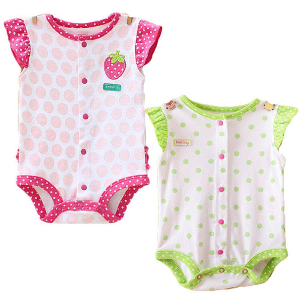 도트딸기풍뎅이 바디슈트(3-24개월)300050 아기외출복 백일아기옷 아기룸퍼 6개월아기옷 아기룸퍼 돌아기옷 신생아외출복 베이비롬퍼