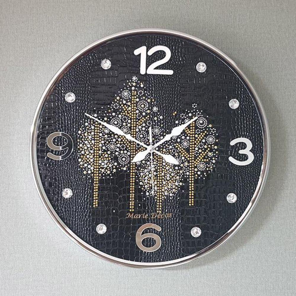 골드우드 무소음 벽시계(대) 블랙 벽시계 벽걸이시계 인테리어벽시계 예쁜벽시계 인테리어소품