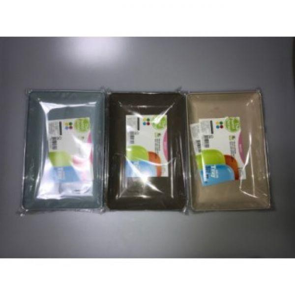 파스텔 직사각 플라스틱 접시 (2-1) 14cm X 21.5cm 쟁반 간식 플라스틱 트레이 정사각