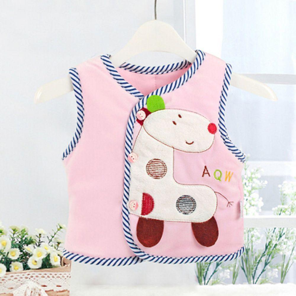 동물 캐릭터 핑크 아기 조끼  202412 수면조끼 아기조끼 유아조끼 조끼 엠케이 조이멀티