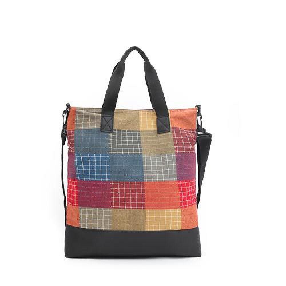 VL_MVV109컬러체크 에코크로스백 데일리가방 캐주얼크로스백 디자인크로스백 예쁜가방 심플한가방