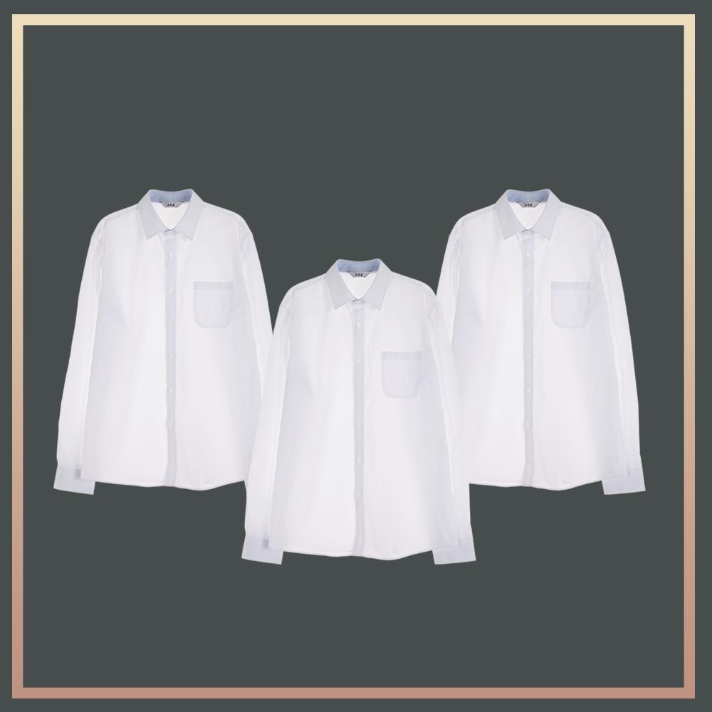 (빅사이즈)남성 밝은 블루 프리미엄 셔츠 3pcs 패키지 교복셔츠 교복 교복쇼핑몰 교복와이셔츠 남자교복 학생복 교복남방 교복블라우스 여자교복 고등학교교복