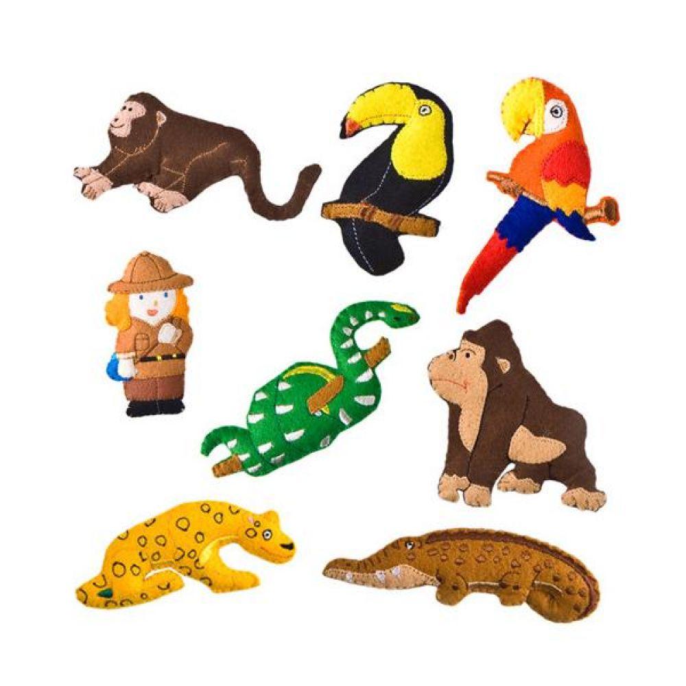 탈부착 열대우림 야생동물 토독 완구 문구 장난감 어린이 캐릭터 학습 교구 교보재 인형 선물