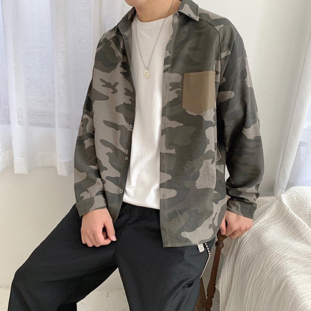 칸셀로 카모플라쥬 남자 밀리터리 남방 SH-200110 셔츠 남방 남자남방 남성남방 체크남방