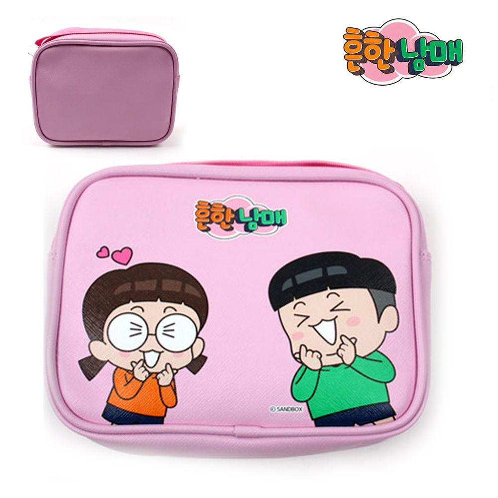 코코브레인 흔한남매 사각 크로스 (러브 핑크) 크로스백 핸드폰백 아동가방 크로스 가방