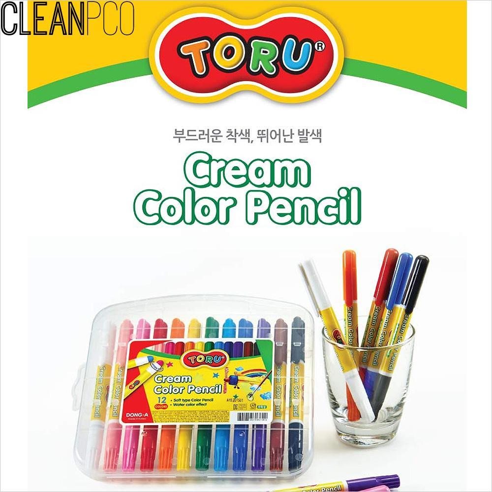 f09 동아 토루 크림색연필 24색 P35318 색연필 색연필세트 미술용품 미술재료 크림색연필
