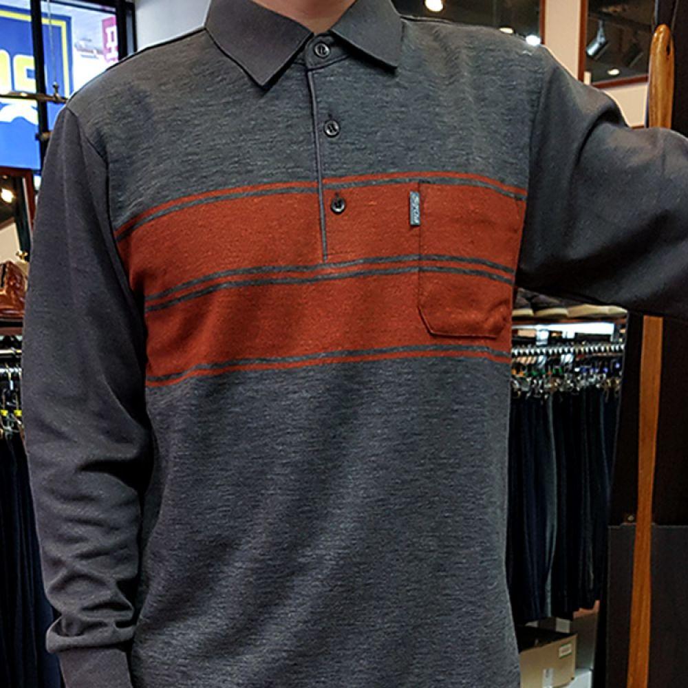 y 해리스 HARRIS 남성 카라셔츠 브라운 GR-TS6234 니트 컬러니트 라운드니트 베이직니트 젠틀안트니트 젠틀안트 가을니트 신상니트 남자니트 프리사이즈니트 스트라이프니트 knit