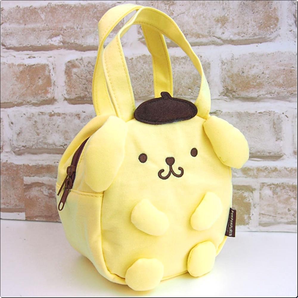 폼폼푸린 스웨이드 보냉 토트 입체백 (일)(374623) 캐릭터 캐릭터상품 생활잡화 잡화 유아용품
