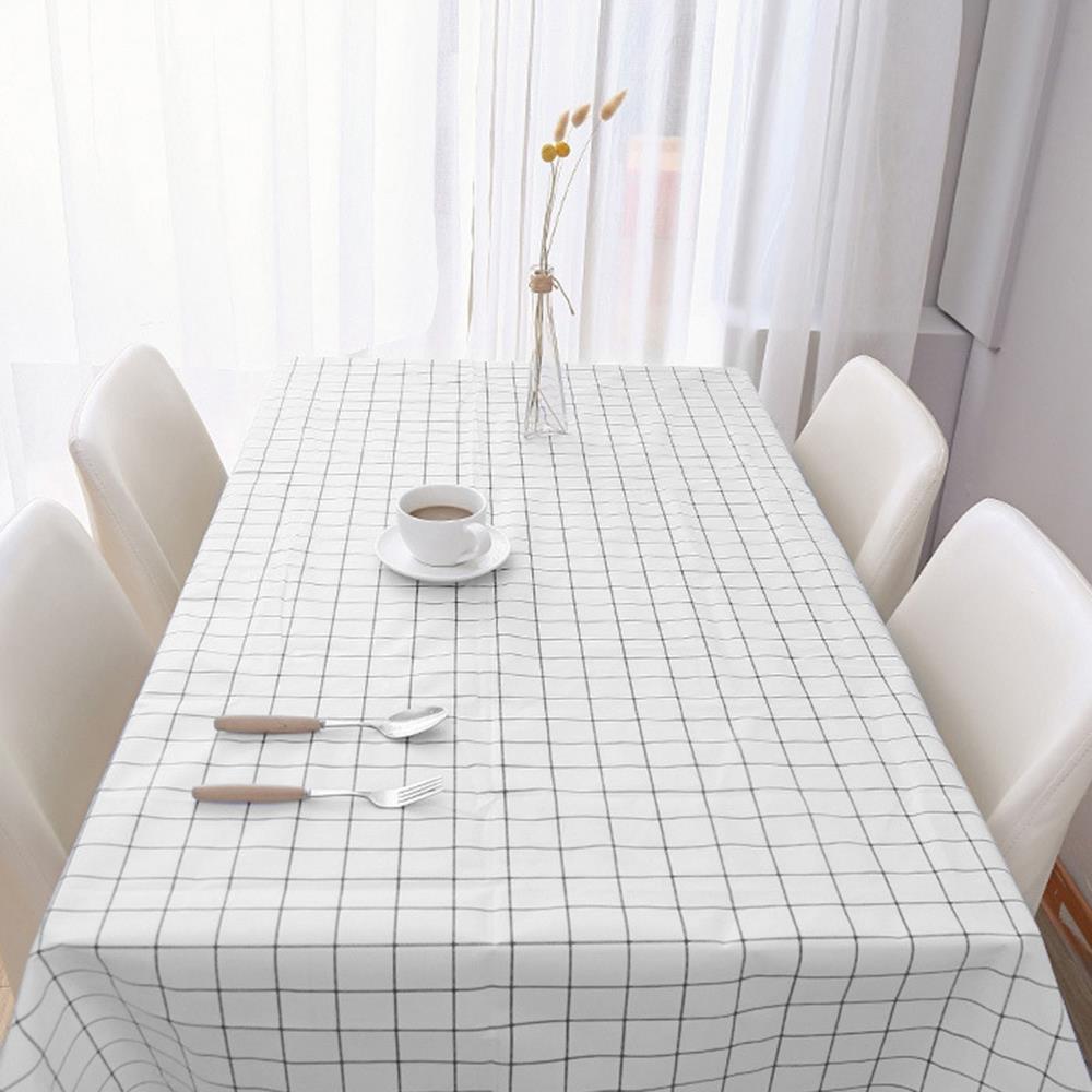 식탁보 화이트 90x137cm 격자무늬 테이블커버 테이블러너 식탁커버 테미블커버 식탁깔개 방수테이블보
