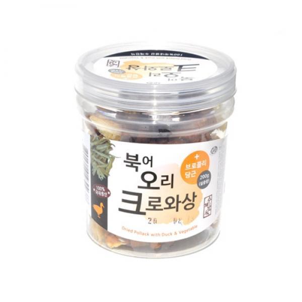 몽동닷컴 수제간식 북어 오리 크로와상 200g 애견간식 강아지간식 애완용품 반련견간식 애견사료