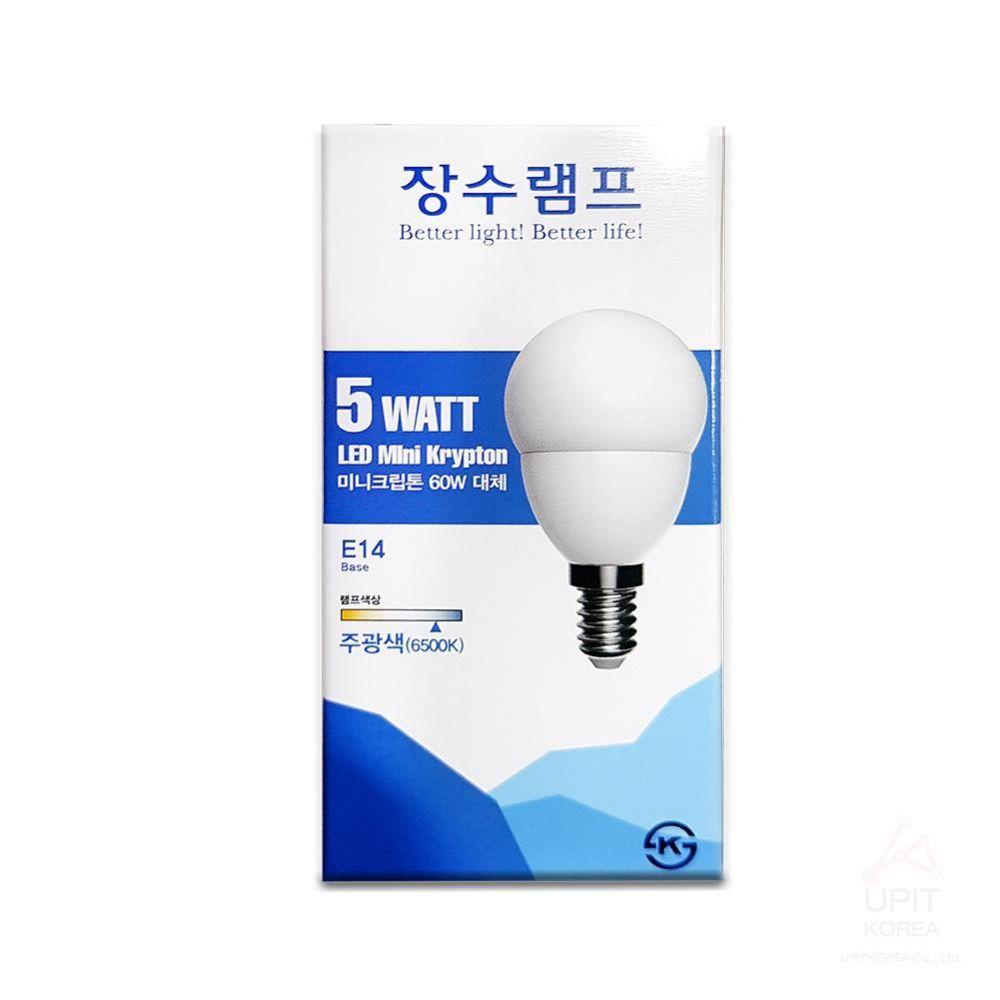 장수 미니크립톤5W(E14) 주광색(컨버터내장형)_8916 생활용품 가정잡화 집안용품 생활잡화 잡화