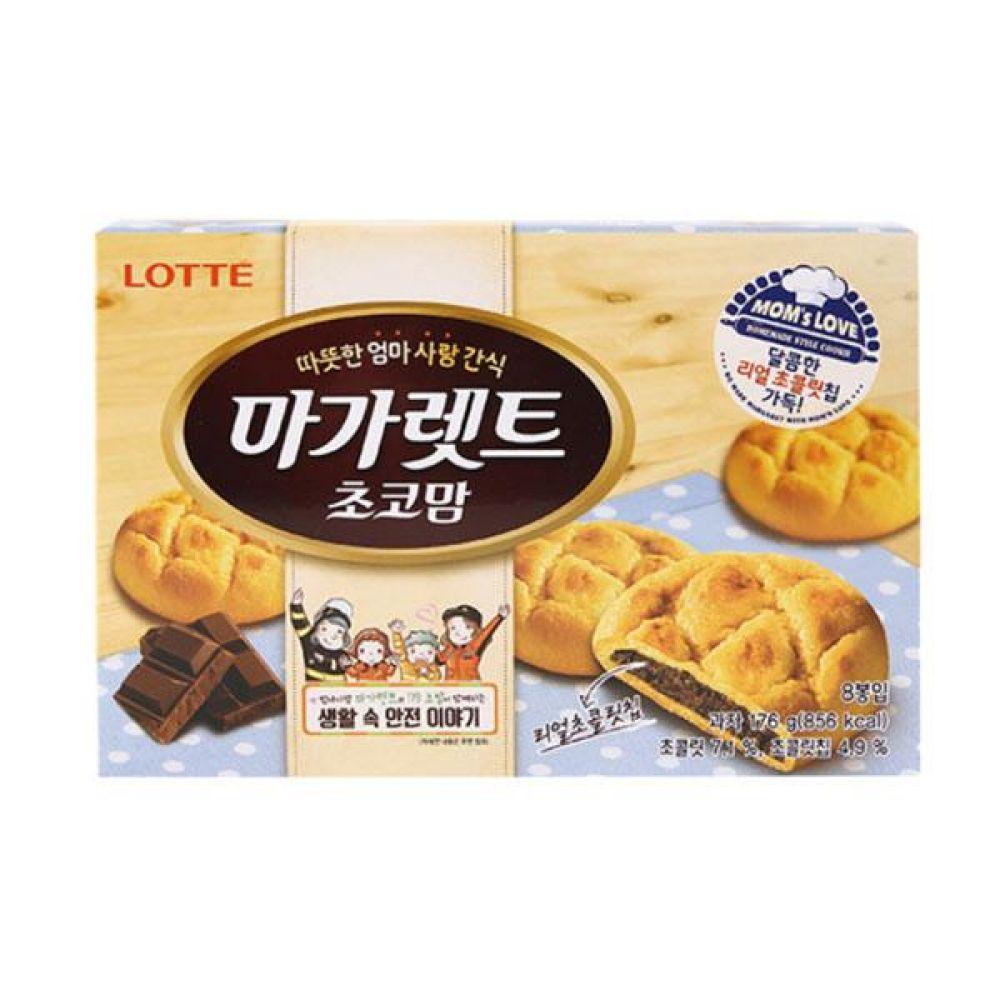 롯데)마가렛트 초코맘 176g x 6개 과자 스낵 군것질 박스단위 도매