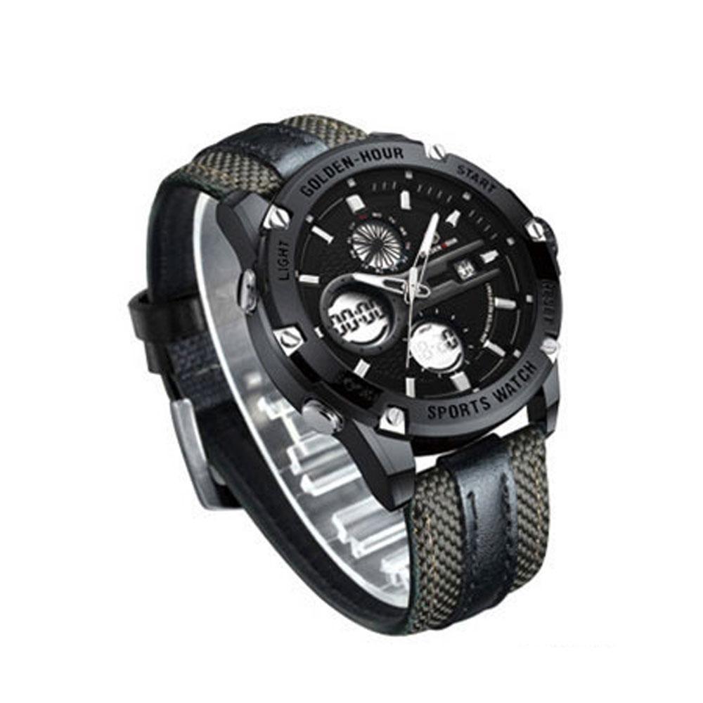 블랙카키 남자 고급 손목 시계 가죽 선물용 골든아워 남자시계 남성시계 손목시계 남자가죽시계 남성용시계