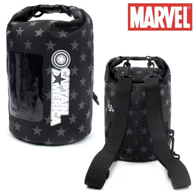 윙하우스 캡틴 블랙에디션 드라이백팩 5L 비치백 수영가방 물놀이 아동 캐릭터