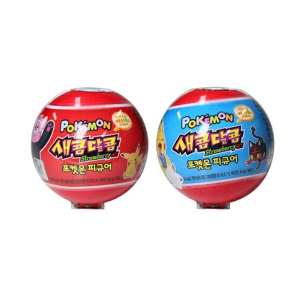 크라운)새콤달콤 포켓몬 12g x 6개 과자 사탕 젤리 껌 초코렛