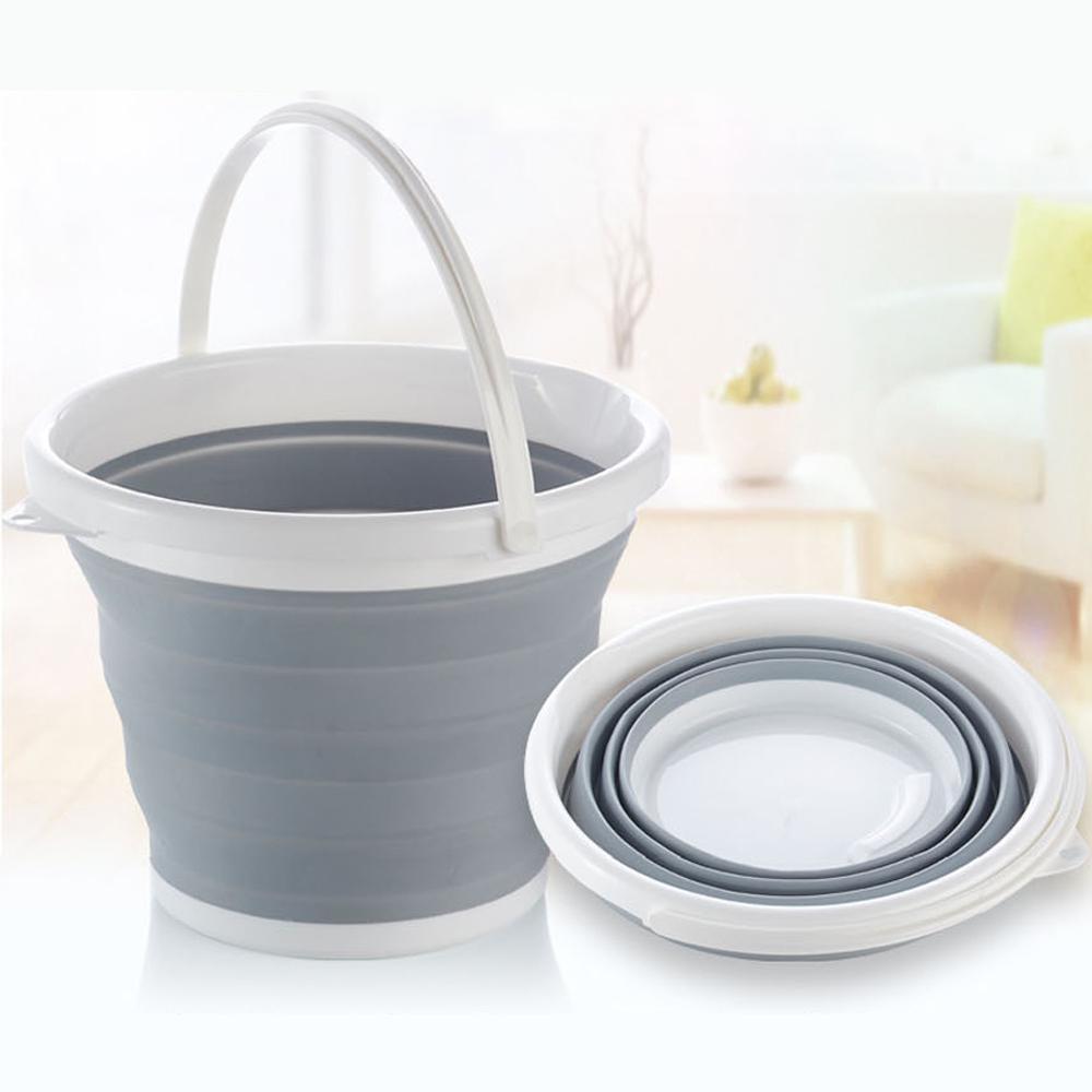 바구니 3단 접이식 10L 물통 다용도 바스켓 휴대용 10L 물통 바구니 바스켓 접이식물통