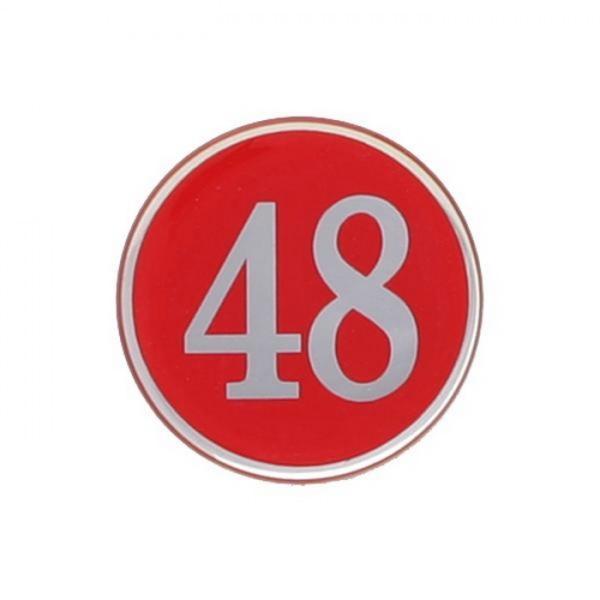 번호판빨강 지름48mm 에폭시 4842 아트사인 사무용품 번호판 빨강 생활잡화 표지판 문구 스티커형