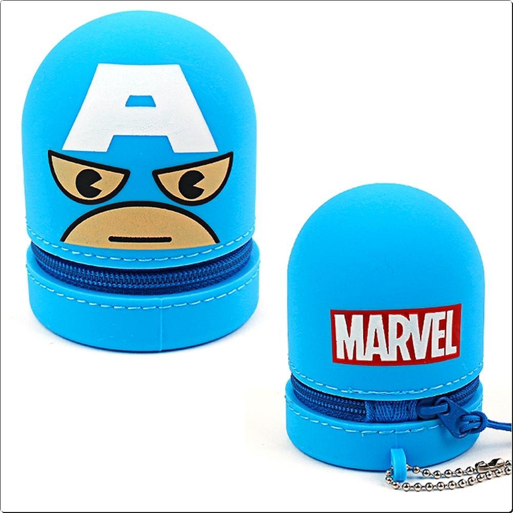 마블 캡틴아메리카 실리콘 동전파우치 (742928) 캐릭터 캐릭터상품 생활잡화 잡화 유아용품