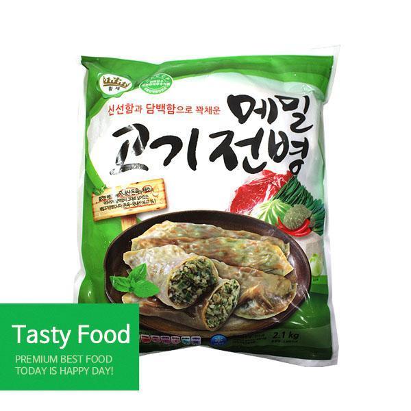 (냉동)준푸드 메밀고기전병2.1kgX8개 만두 준푸드식품 고기전병 식자재 식품