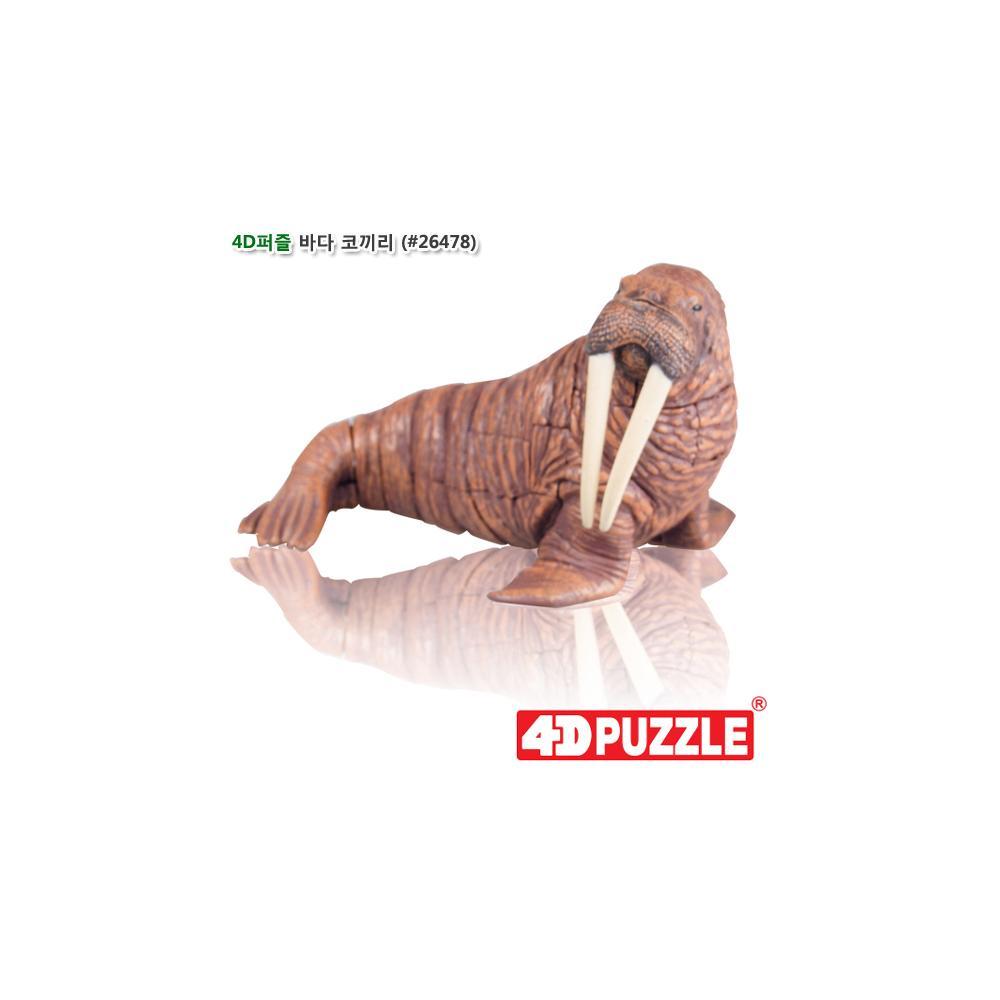 선물 입체 조립 동물 피규어 4D 퍼즐 바다 코끼리 6살 입체조립 조립피규어 입체조립피규어 4D퍼즐 3D퍼즐