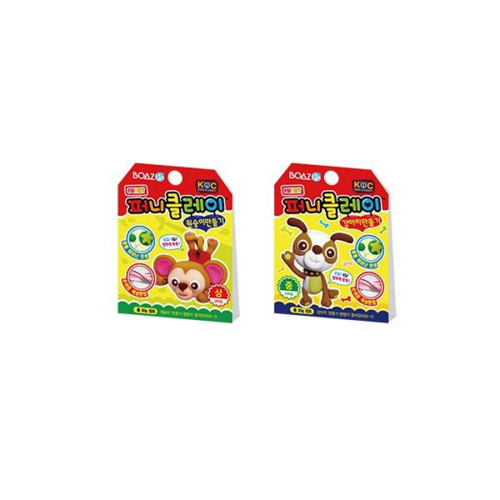 피니클레이 동물 만들기 2종(원숭이 x 강아지) 칠판 사무 마카 업무 문구도매
