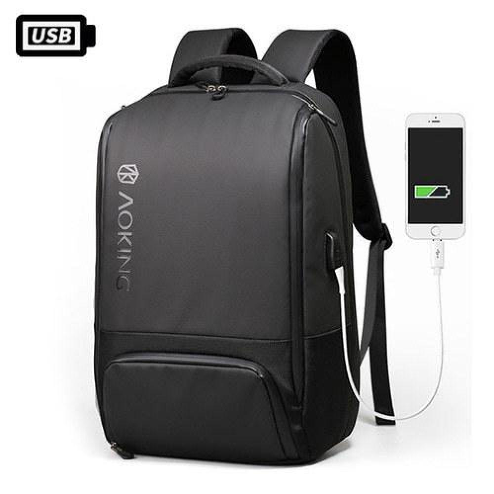 KJ_FKK014 멀티수납 기능성 USB백팩 데일리가방 캐주얼백팩 디자인백팩 예쁜가방 심플한가방