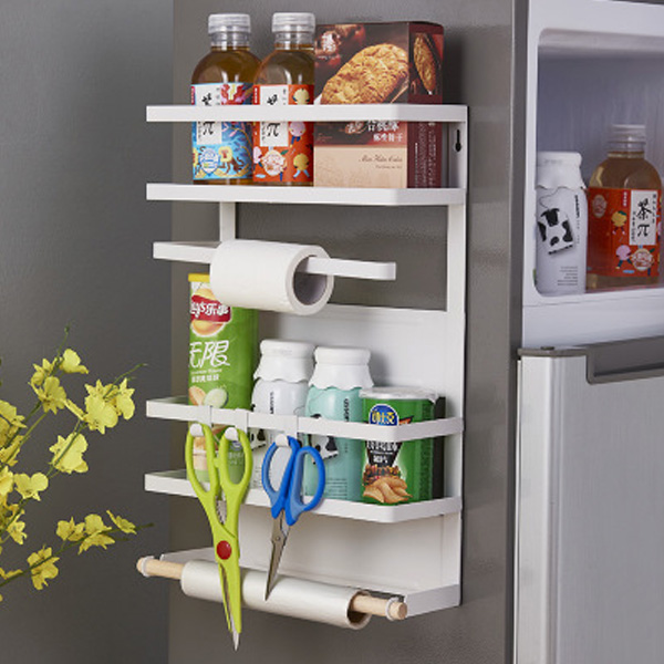 철제 마그네틱 냉장고 사이드 자석 수납 선반 철제선반 주방선반 키친타올걸이 키친타올홀더 주방정리대 사이드선반 냉장고자석수납 마그네틱선반 냉장고자석선반 사이드랙