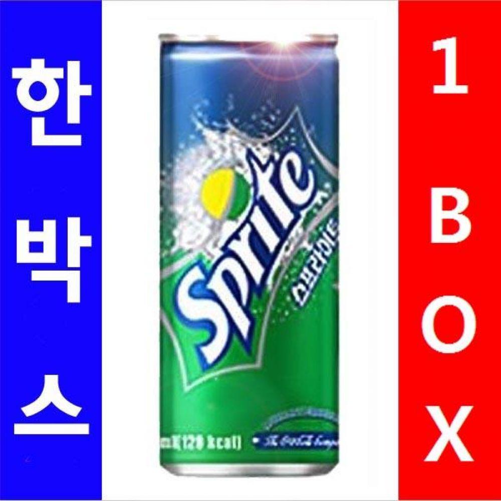 코카)스프라이트 250ml 1박스(30캔) 대량 도매 세일 판매 음료